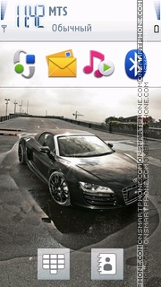 Black Audi R8 01 theme screenshot