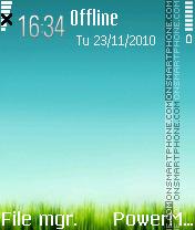 Grass symbian theme screenshot