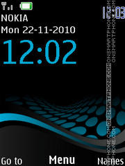 Clock 121 theme screenshot