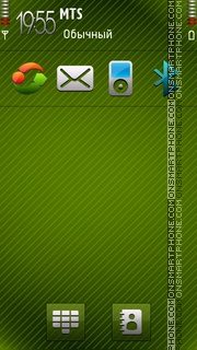 Green Abstract tema screenshot