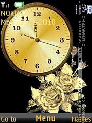 Clock and Rose theme screenshot