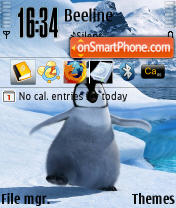 Happy Feet theme screenshot