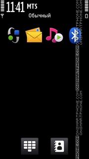 Nokia Dark C6 theme screenshot
