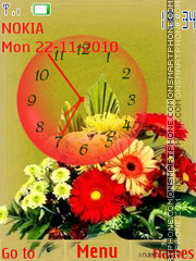 Colorfull Bouquet Clock es el tema de pantalla