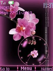Orchids clock Theme-Screenshot
