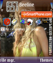 Paris Hilton V6 theme screenshot