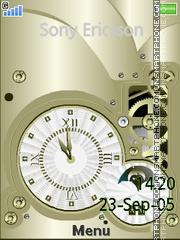 Industrial Clock es el tema de pantalla