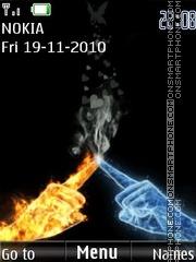 ice and flame theme screenshot