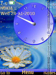 Camomile Clock tema screenshot