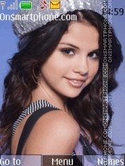 Скриншот темы Selena Gomez