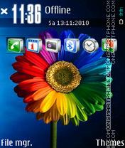 Colorful Flower 01 es el tema de pantalla