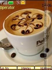 Capture d'écran latte art thème