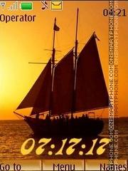 Скриншот темы Chocolate sails