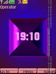 3d blue pink anim swf theme screenshot