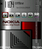 Red metal tema screenshot