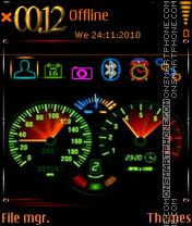 Tachometer 01 theme screenshot