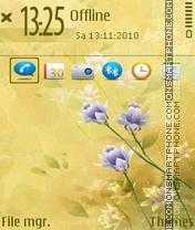 Purple Flowers 01 tema screenshot