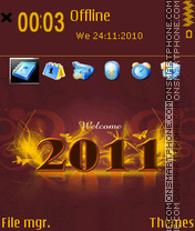 Welcome 2011 theme screenshot