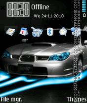 Subaru Impreza Wrx 03 es el tema de pantalla