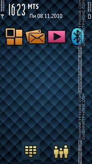 Indigo Gold 01 theme screenshot