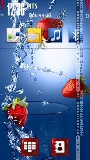 Скриншот темы Strawberry in Water