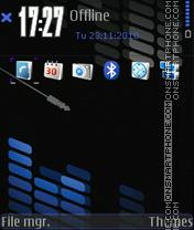Music-blue tema screenshot