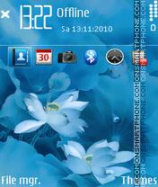 Blue Flower 05 es el tema de pantalla