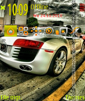Audi r8 22 theme screenshot