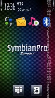 Скриншот темы Symbian Pro Hungary