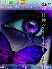 Purple eye and butterfly Theme-Screenshot