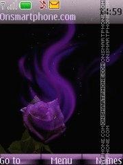 Purpe rose lara theme screenshot