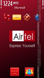 Airtel 01 tema screenshot