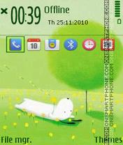 Green Theme 02 tema screenshot