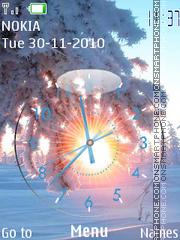 Скриншот темы Winter Clock