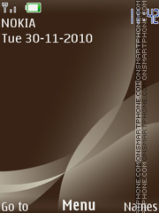 Silver Brown 195 theme screenshot