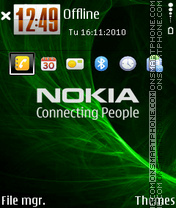 Nokia 7237 theme screenshot