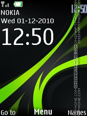 Clock 180 theme screenshot