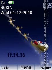 Santa with clock theme screenshot