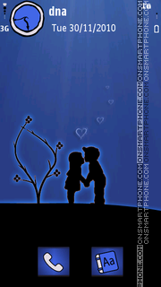 Silhouette Lovers v5 es el tema de pantalla