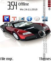 Скриншот темы Bugatti 18