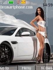 Aston Martin & Girl theme screenshot