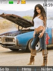 The Pussycat Dolls & Car theme screenshot