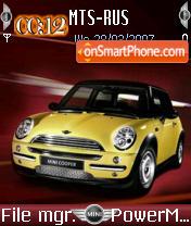 Mini Cooper 01 es el tema de pantalla