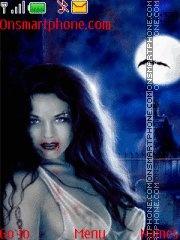 Girl Vampir theme screenshot
