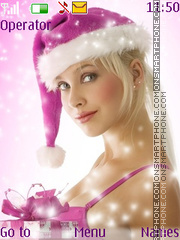 Christmas Girl tema screenshot