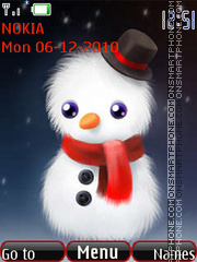 Animated snowman theme screenshot