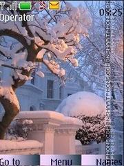Winter morning theme screenshot