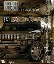 Hummer H2 08 theme screenshot