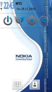Nokia Blue Delight theme screenshot