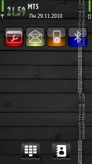Grey Green theme screenshot